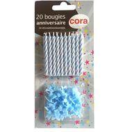 3257984150390 - Cora - Bougies anniversaire bleues