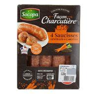 3039050632890 - Socopa - Saucisses aux lentilles et aux carottes Façon Charcutière