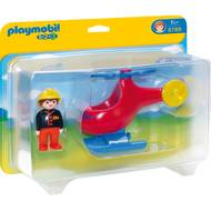 4008789067890 - PLAYMOBIL® 1.2.3 - Pompier avec hélicoptère