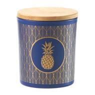 3065876168190 - Devineau - Verre bleu or ananas Parfum Jungle