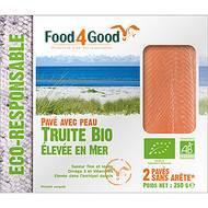 3426434000091 - Food4Good - 2 Pavés de Truites Bio avec peau sans arête élevée en mer
