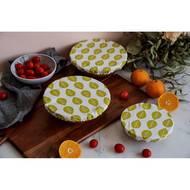 7640185742291 - Nuts - Set de 3 couvre-bols feuilles 100% Coton
