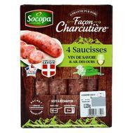 3039050633491 - Socopa - Saucisses vin de Savoie et ail des ours