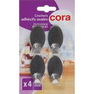 3257982135191 - Cora - Crochets adhésifs inox