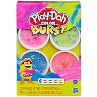 5010993619092 - Play-Doh - 4 Pots de pâte à modeler Explosion couleurs assorties
