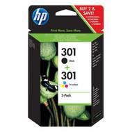 0889894419392 - Hewlett packard - Cartouches d'encre Multipak 301 noire et couleurs