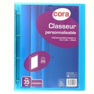 Cora - Classeur souple dos 35 mm pour feuilles 21 x 29,7 cm personnalisable