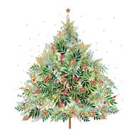 4021766263993 - Paperproducts Design - Serviettes Christmas Hill Tree 33x33cm