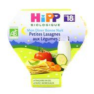 4062300086593 - Hipp - Bonne Nuit Petites Lasagnes aux Légumes bio, dès 18 mois