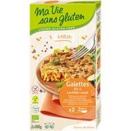 3380380068393 - Ma Vie Sans Gluten - Galettes Riz & Lentilles corail, Bio, Sans Gluten