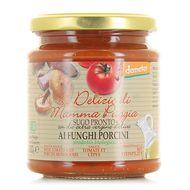 8021115290294 - Le Delizie Di Mamma Puggia - Sauce tomate aux cèpes, bio