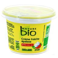 Nature Bio - Crème Fraîche épaisse Bio 30% de M.G