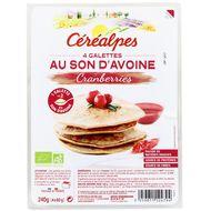 3259011124794 - Céréalpes - 4 Galettes au son d'avoine et Cranberries, Bio