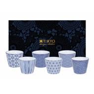 8719323535794 - Tokyo Design Studio - Coffret 6 tasses Nippon Blue 15925