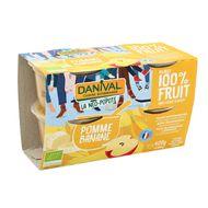 3431590013595 - Danival - Pomme banane bio sans sucre ajouté