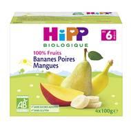 4062300275195 - Hipp - Coupelles Bananes Poires Mangues bio, dès 6 mois
