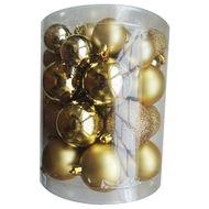 3602904752497 - Cora - Tube de boules multi-tailles or