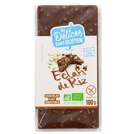 3421557600098 - Grillon Or - Chocolat au lait bio incrusté d'éclats de riz