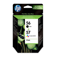 0884962834398 - Hewlett packard - Cartouches HP 56+57 encre noire et couleurs