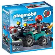 4008789068798 - PLAYMOBIL® City Action - Quad avec treuil et bandit