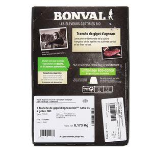 Bonval Tranche de Gigot d'Agneau Bio x1