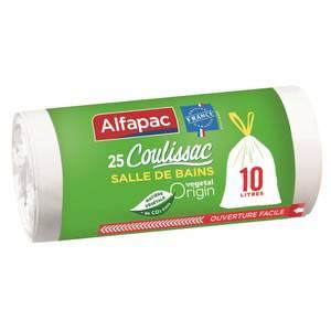Alfapac Sacs poubelle 10L coulissac Végetal Origin