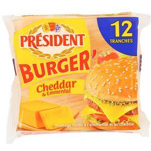 Président Fromage Burger Cheddar et Emmental