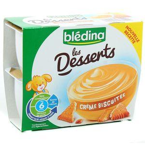 Bledina Les Desserts crème biscuité 4x100g dès 6 mois