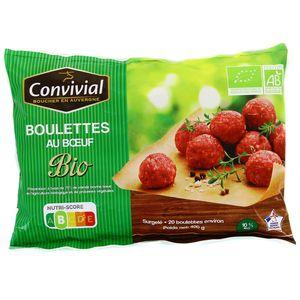 Convivial Boulettes au Boeuf Bio 10% MG