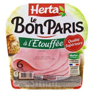 Herta Le Bon Paris Jambon à l'étouffé, 255g