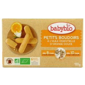 Babybio Petits Boudoirs à l'huile essentielle d'orange douce bio, dès 8 mois