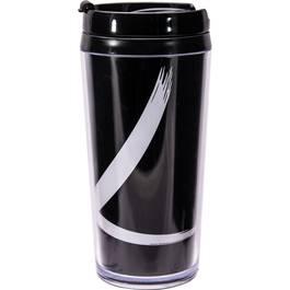 Zak Designs Mug isotherme double paroi Noir/Blanc