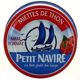 Miettes de thon a la tomate PETIT NAVIRE, 250g