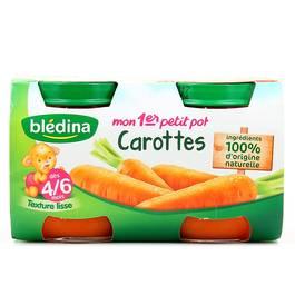 Blédina Mon 1er petit pot carottes dès 4/6 mois