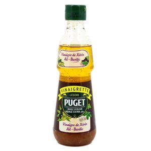 Puget Vinaigrette légère huile d'olive vierge extra & vinaigre de Xérès, ail, basilic