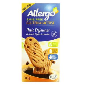 allergo biscuit petit d jeuner sans gluten et sans lactose 200g. Black Bedroom Furniture Sets. Home Design Ideas