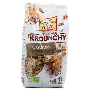 Grillon Or Mes krounchy graines bio courge, tournesol, lin et sésame