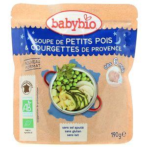 Babybio Soupe de Petits Pois & Courgette de Provence bio, dès 6 mois