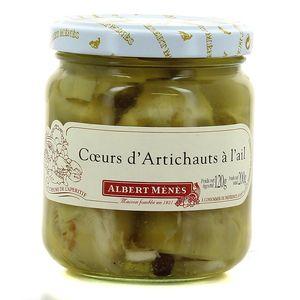 Coeurs d'artichauts à l'ail ,ALBERT MENES,120g