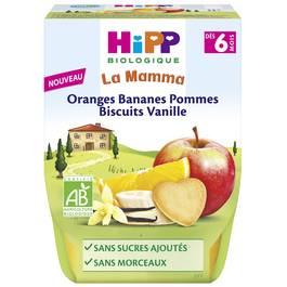 Hipp Oranges Bananes Pommes Biscuits Vanille - Bio - dès 6 mois