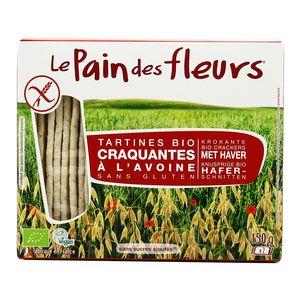 Le pain des fleurs Tartines craquantes avoine bio