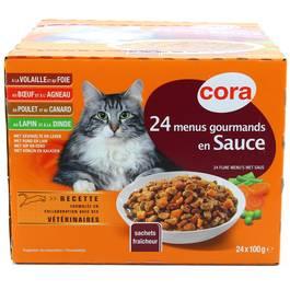 Cora 24 menus gourmands émincés en sauce