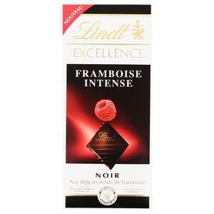 Lindt chocolat noir 70% et framboise 100g