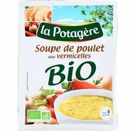 Soupe de poulet aux vermicelles Bio,LA POTAGERE,70g