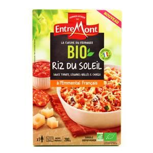 Entremont Cuisine du Fromager- Riz du Soleil Bio- Légumes grillés, chorizo, sauce tomate et Emmental Français