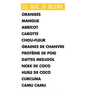 Blend my day Smoothie petit-déjeuner THE C BOMB - prêt-à-mixer- Orange, Carotte, Camu Camu