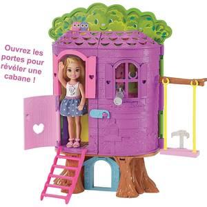 Mattel Chelsea et sa cabane dans les arbres- Barbie