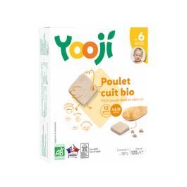 Yooji Poulet bio haché, cuit et surgelé en galets dès 6 mois