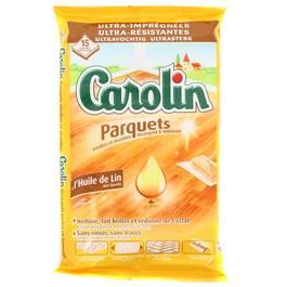 Carolin Lingettes parquets vitrifiés et stratifiés à l'huile de lin
