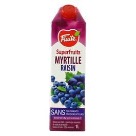 Nectar de myrtille ,Fruité Superfruits,1l